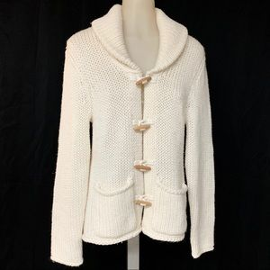 MODA International Chunky KnitWool IvoryCardigan M